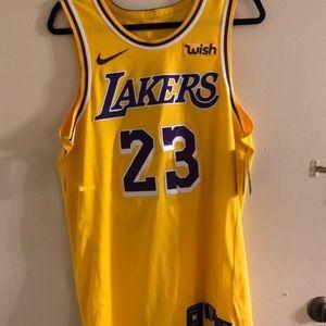 LA Lakers Authentic Lebron James Jersey Medium 44